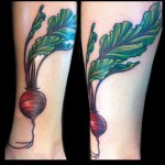 beet tattoo done by jessi lawson