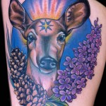 Female Deer tattoo Doe by female tattoo artist Jessi Lawson