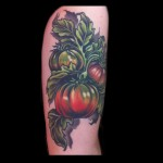 heirloom tomato vegetable tattoo by Jessi Lawson