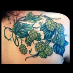hops, plant, tattoo, jessi, lawson
