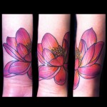 lotus flower tattoo by Jessi Lawson