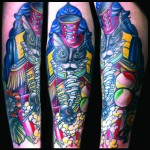 circus ringleader cat tattoo by jessi lawson