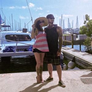 Jessi,Lawson,Opie,ryan,mueller,catamaran,daytrip,puerto,rico,tattoo